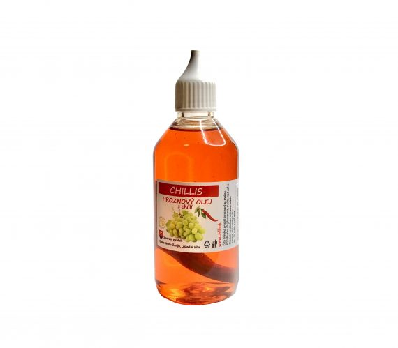 hroznový olej s chilli